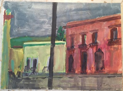 Water color done by John Button in Oaxaca in 1958